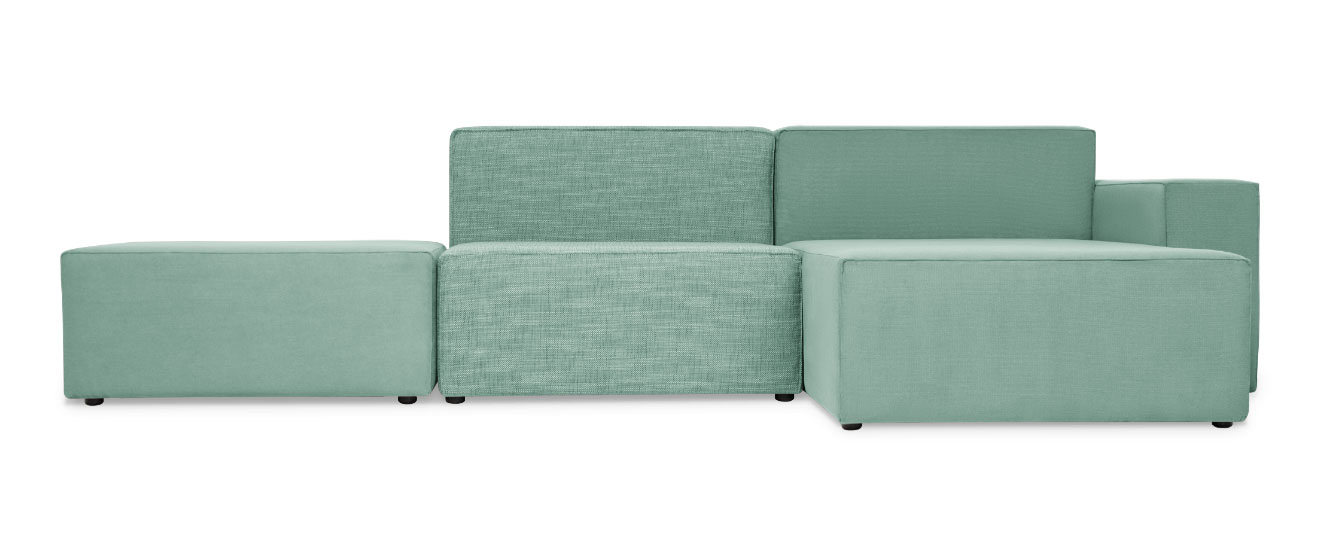 Sofa mit Chaiselongue Quadro
