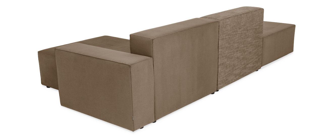 Sofa mit Chaiselongue Quadro