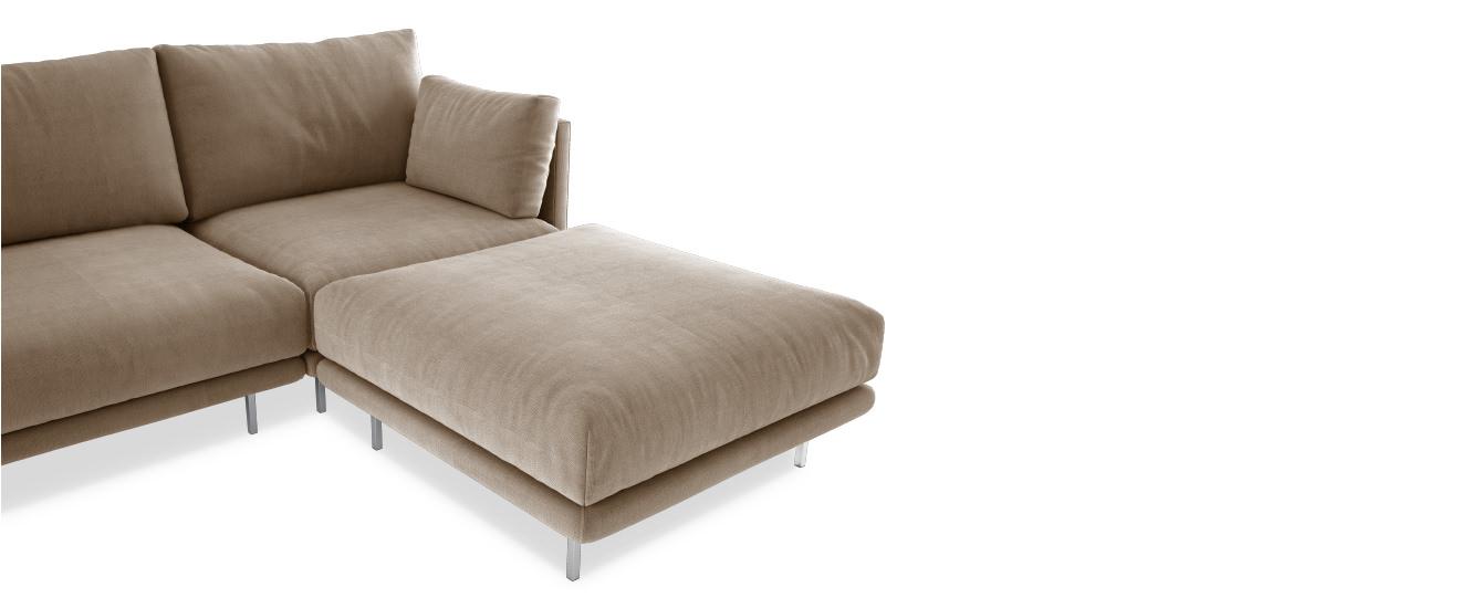 Sofa mit Chaiselongue Villa