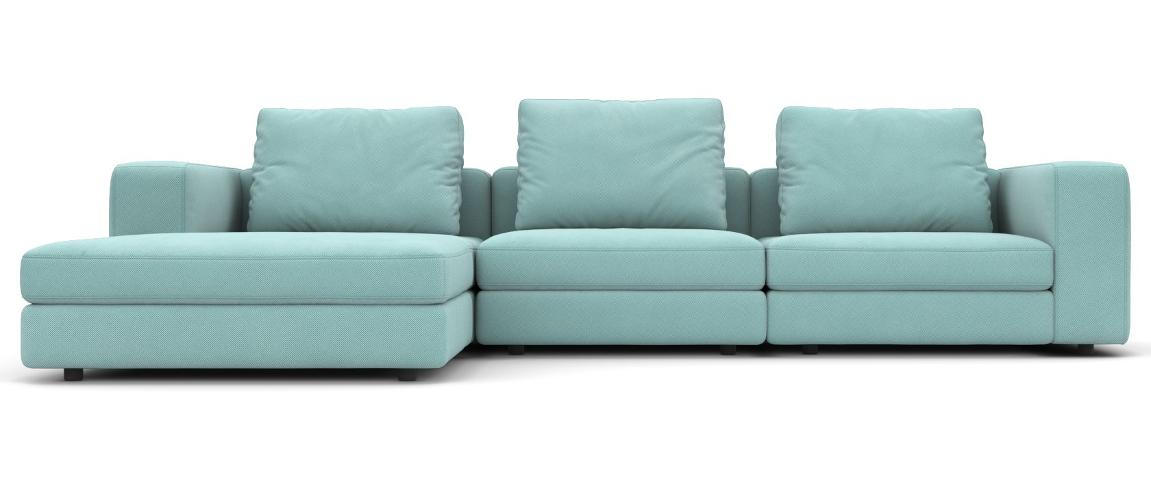 Sofa mit Chaiselongue Domino