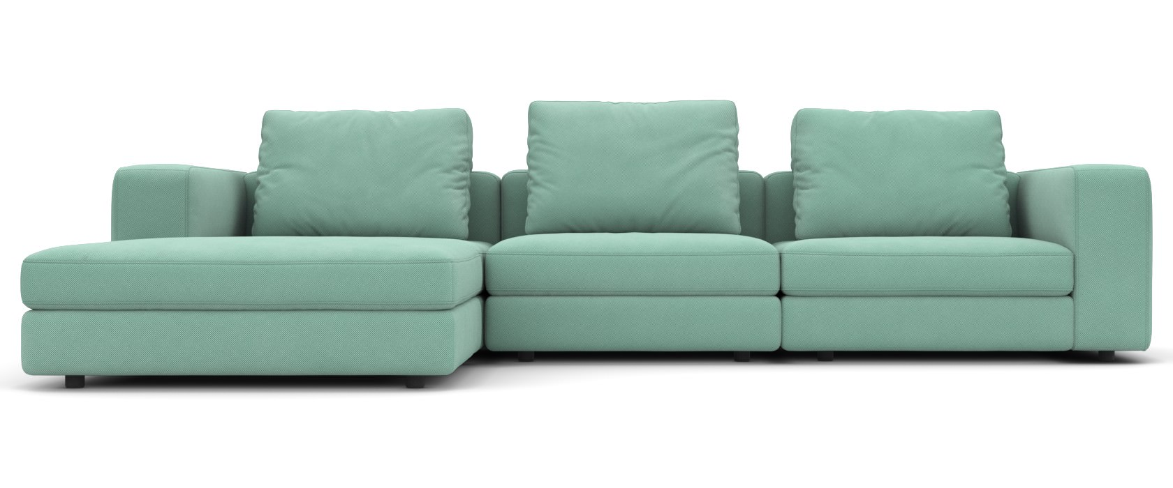 Schlafsofa mit Chaiselongue Domino