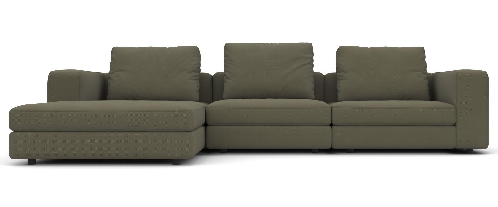 Sofa mit Chaiselongue Domino